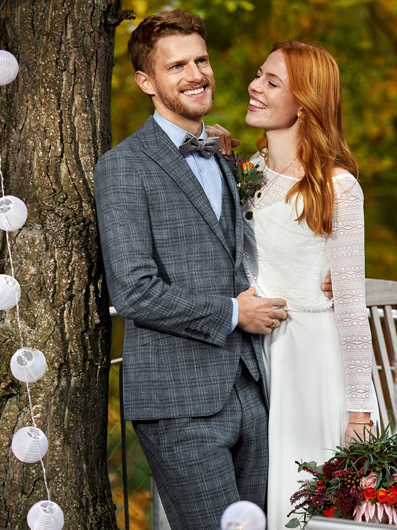 Sustainable wedding suit: our LOOK 2 of the GREEN WEDDING collection for the groom 2020